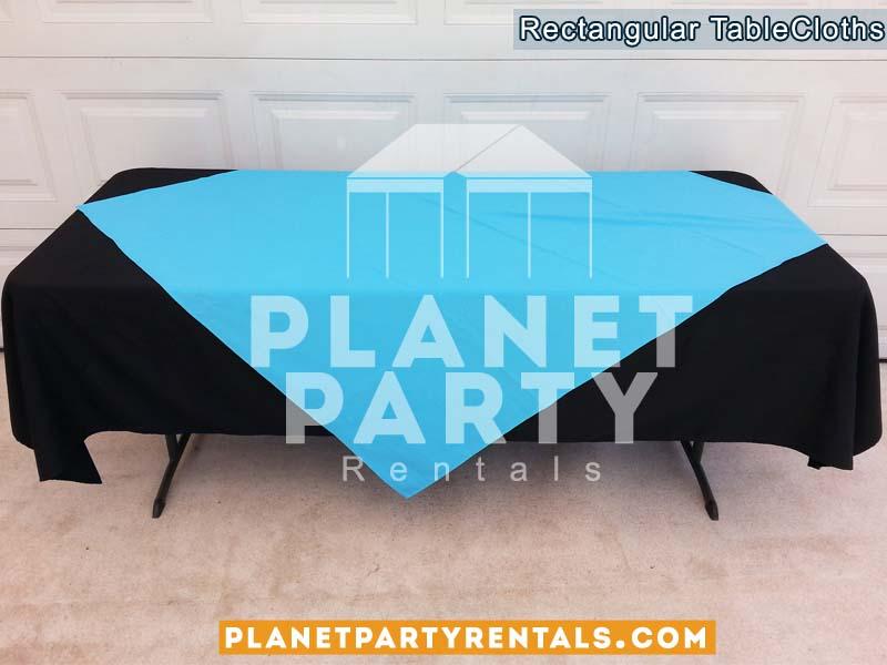 Black Tablecloth Rectangular Table 006