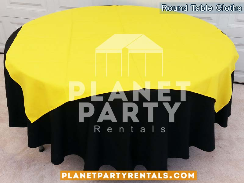 Tablecloth Round Overlay Diamond Rentals 03