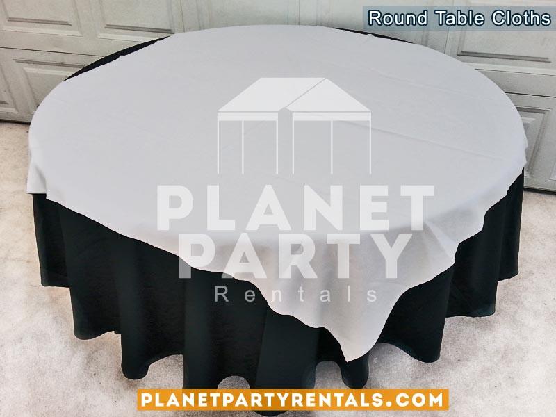 Tablecloth Round Overlay Diamond Rentals 05