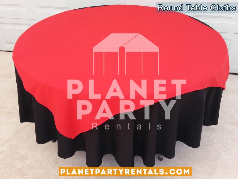 Tablecloth Round Overlay Diamond Rentals 09