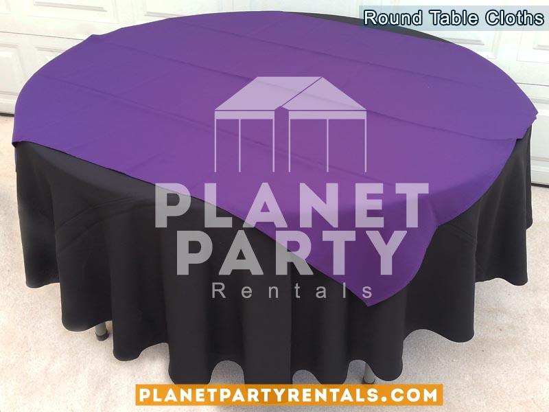Tablecloth Round Overlay Diamond Rentals 12