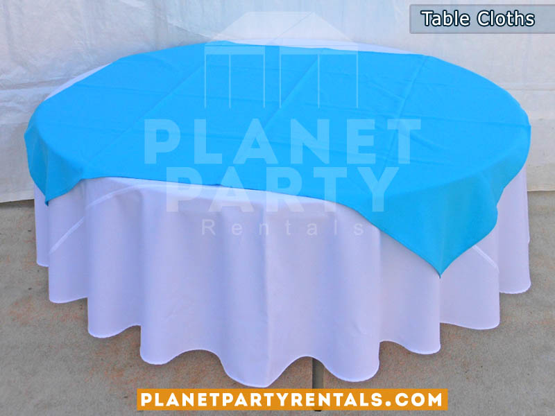 Beau White Round Tablecloth With Runner Overlay 007