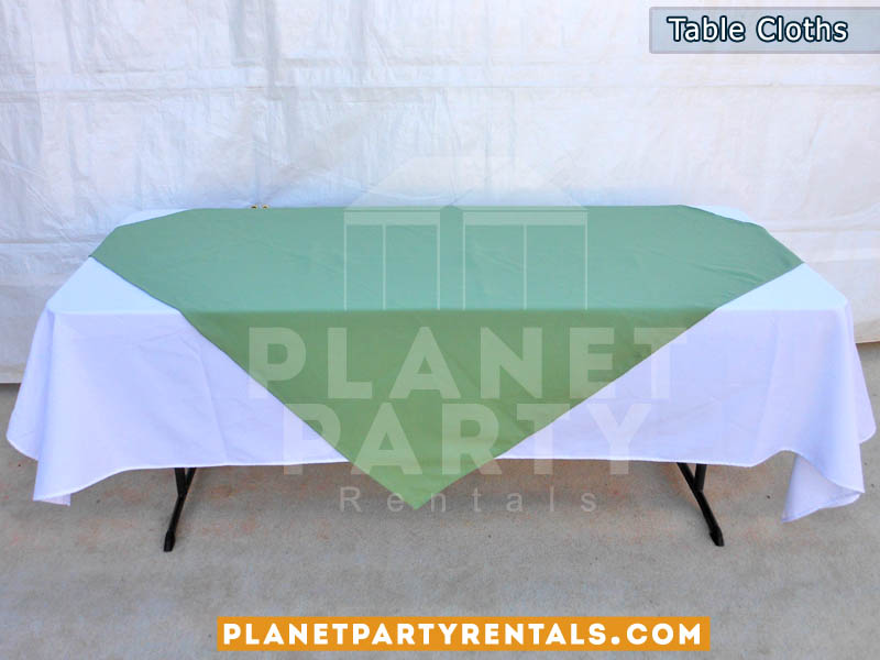 Tablecloth with Diamond/Runner | White and Black Table Cloths | Different colors for Diamond Runners