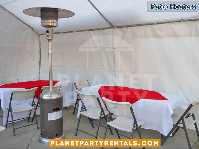 Outdoor Patio Heater Rentals with Propane Tank delivery in the San Fernando Valley