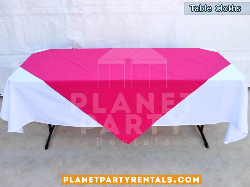 Tablecloth With Diamond/Runner | White And Black Table Cloths | Different  Colors For Diamond