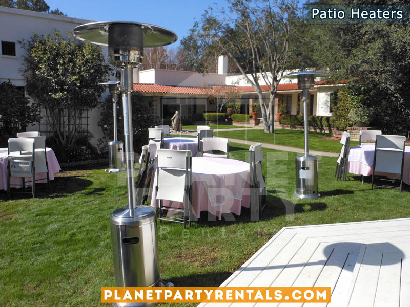 outdoor patio heater rentals with propane tank balloon arches tent