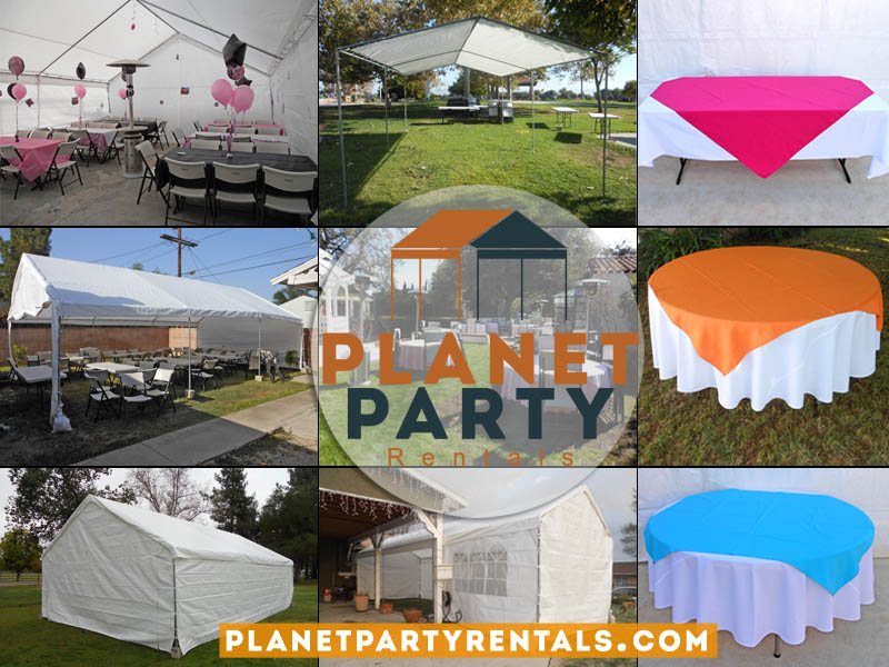 San Fernando Valley Party Rental Company | Planet Party Rentals || Tents | Canopies | Tables | Chairs | Linen | Table Cloths | Jumpers | Patio Heaters and more