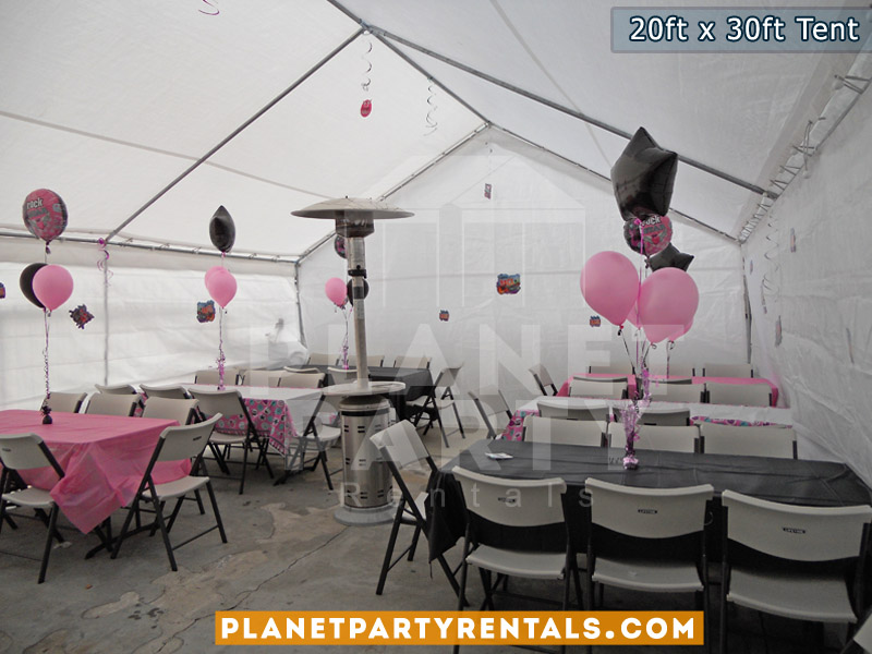 20feet by 30feet Tent Canopy | Tent with Tables and Chairs Package | San Fernando Valley Party Rentals | Party Supplies