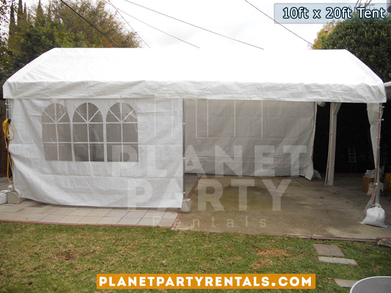 10 feet by 20 feet Tent Canopy | Party Tent with Tables and Chairs | Tent Packages Available | San Fernando Valley Party Rentals | Party Supplies