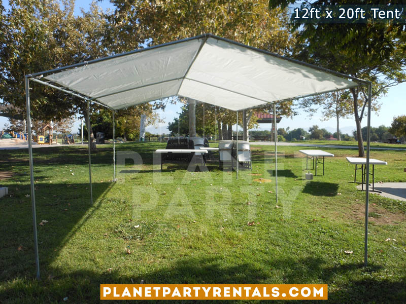 12 feet by 20 feet Tent Canopy | Party Tent with Tables and Chairs | Tent Packages Available | San Fernando Valley Party Rentals | Party Supplies