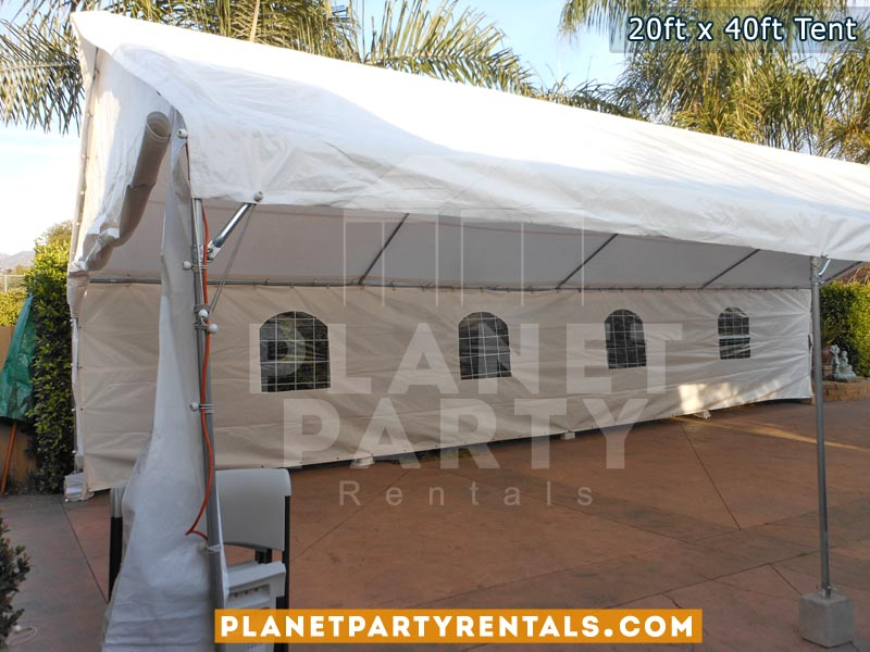 20ft x 40ft White Party Tent Rental | Tent Packages | Tent Pictures