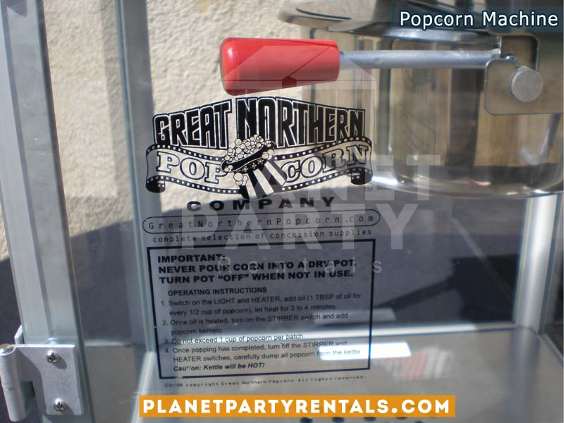 Popcorn Machine rental includes popcorn kernels and butter kit |Party rentals equipment