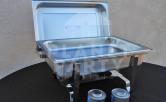 Food warmer equipment, 8 oz rectangular chafing dish | Chafing Dish Rentals