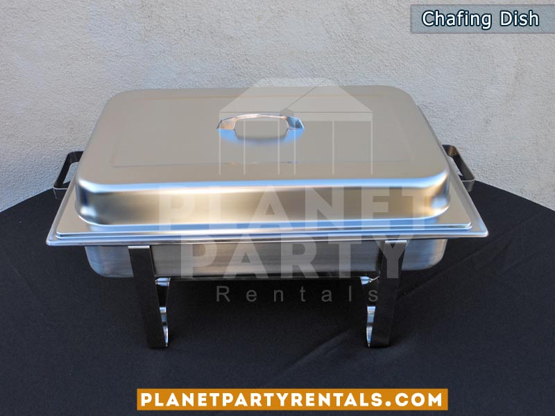 Food warmer equipment, 8 oz rectangular chafing dish | Chafing Dish Rentals