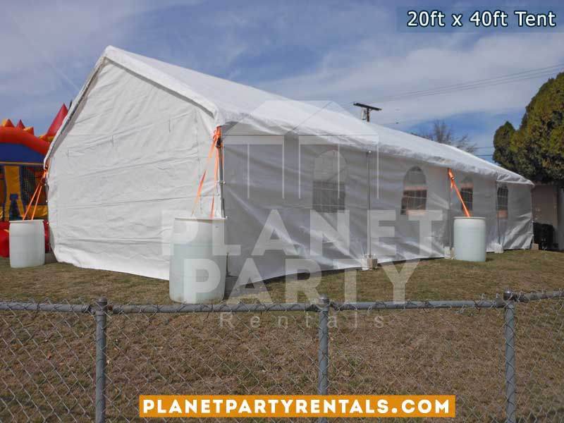 20ft x 40ft tent with sidewalls
