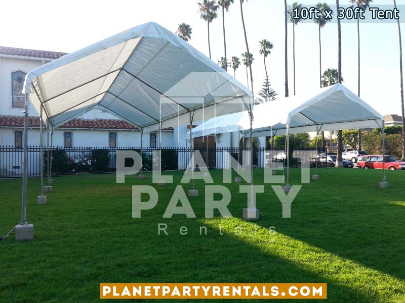10ft x 30ft Tent on grass | Tent rentals San Fernando Valley