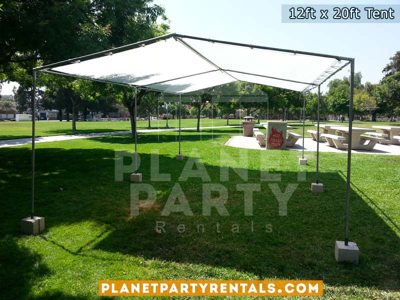 12ft x 20ft Tent on grass | Tent packages with tables and chairs available for rent