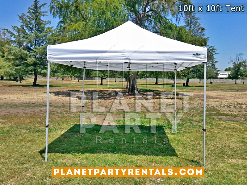 10ft x 10ft White Tent on grass