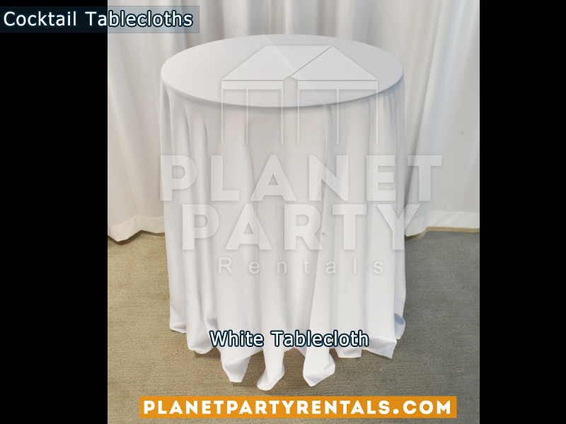 Cocktail Tablecloth White
