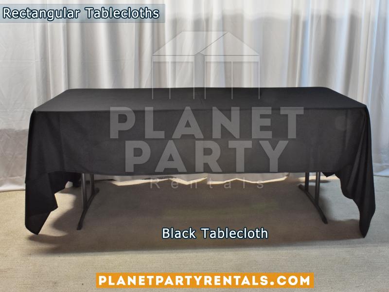Rectangular Tablecloth Black