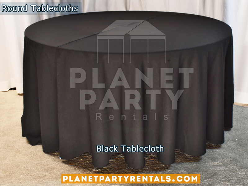 Round Tablecloth Color Black