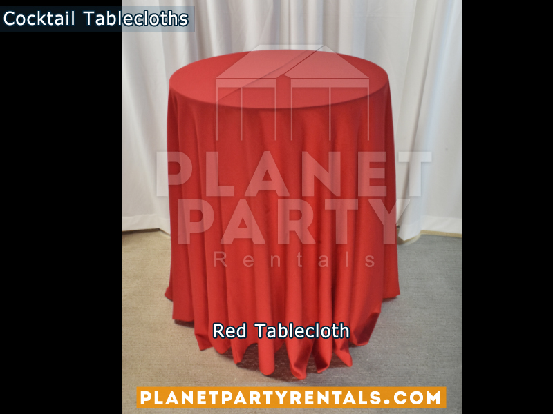 Cocktail Tablecloth Red