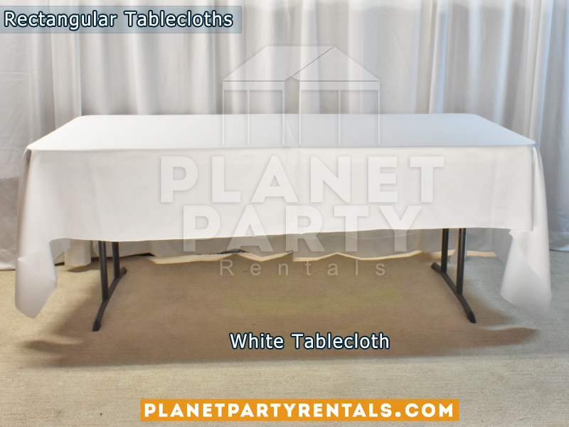 Rectangular Tablecloth Color White