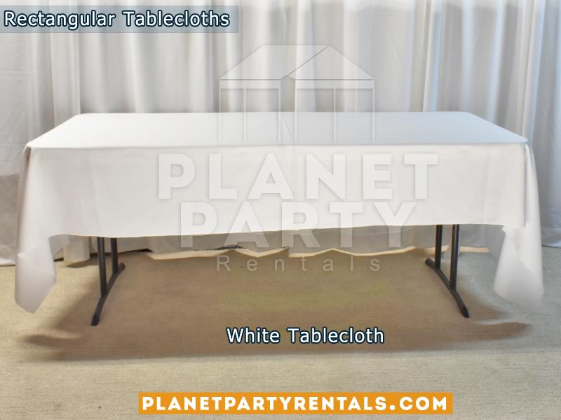 Rectangular Tablecloth Color White