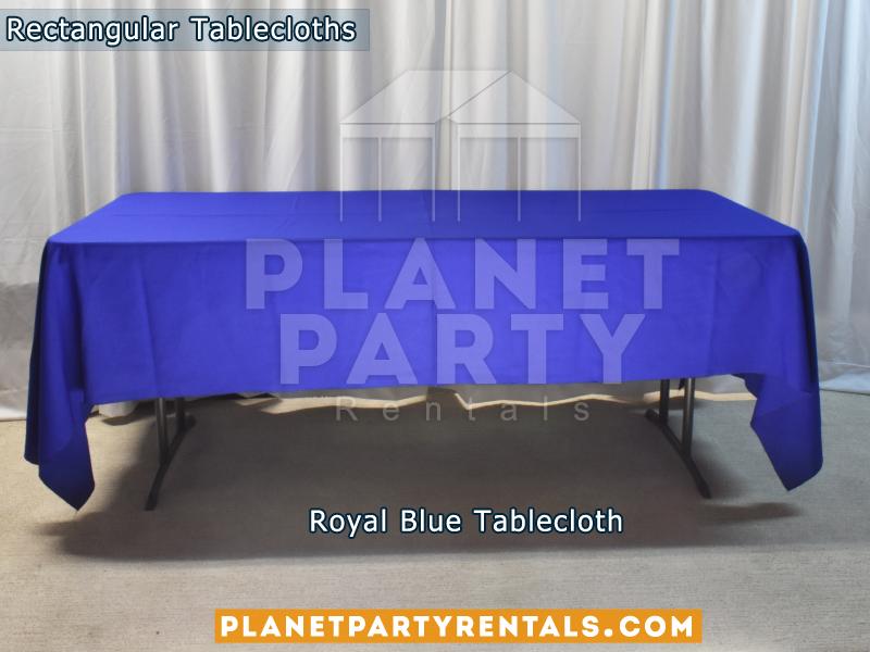 Rectangular Tablecloth Color Royal Blue