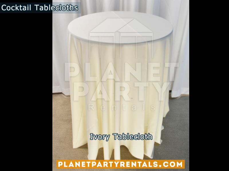 Cocktail Tablecloth Ivory