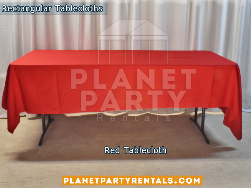 Rectangular Tablecloth Color Red