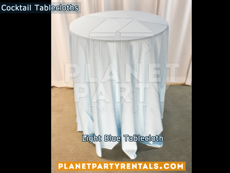 Cocktail Tablecloth Light Blue