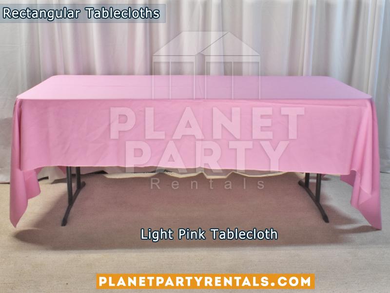 Rectangular Tablecloth Light Pink
