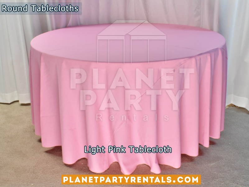 Round Tablecloth Color Light Pink