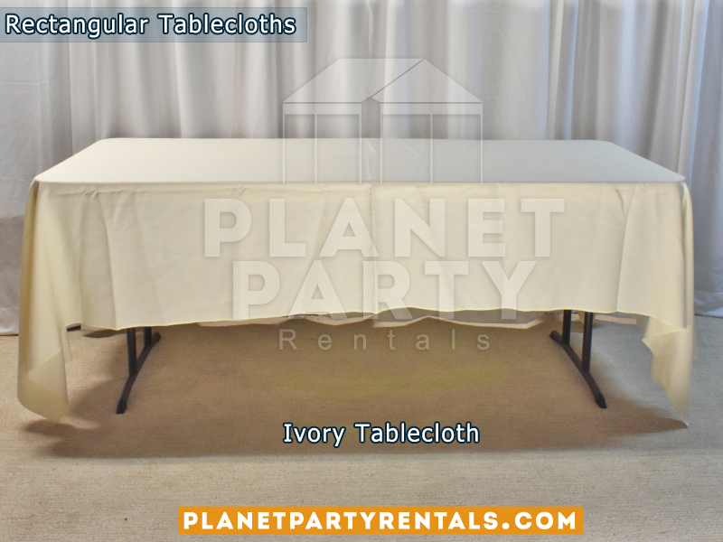 Rectangular Tablecloth Ivory
