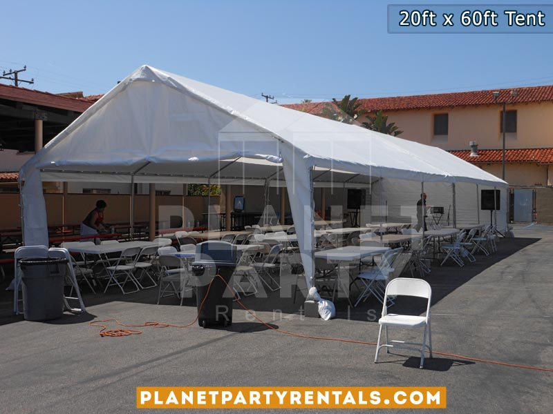 20ft x 60ft White Tent Rentals | San Fernando Valley , Simi Valley , Santa Clarita , West Los Angeles Party Rentals