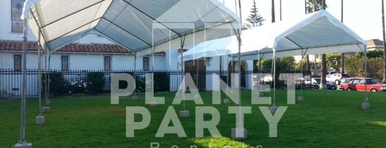 10ft x 30ft Tent on grass | Tent rentals San Fernando Valley